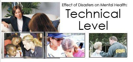 Collage of various disaster scenarios with traumatized participants