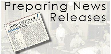 Preparing News Releases course logo