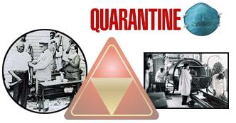 Collage of Quarantine and Isolation situations